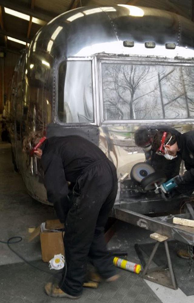 Airstream polishing