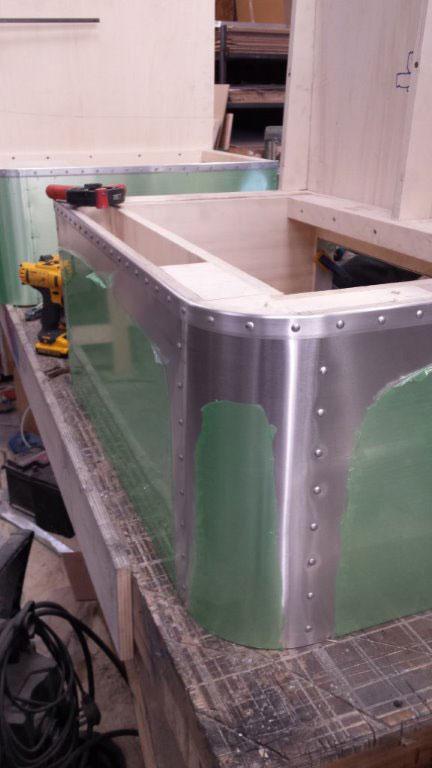 Riveted aluminium furniture