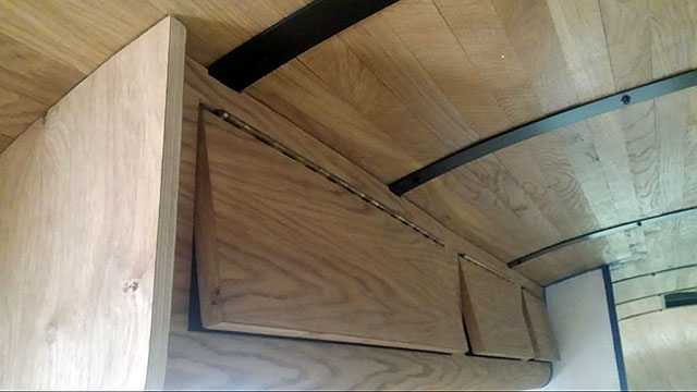 wood panelled Airstream