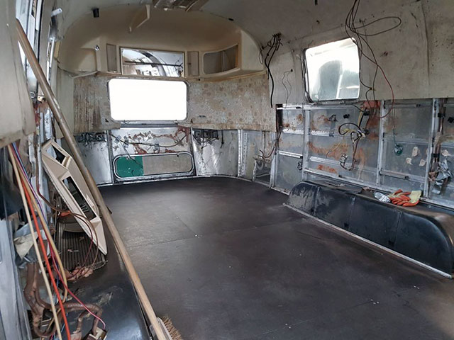 Damaged Airstream Chassis