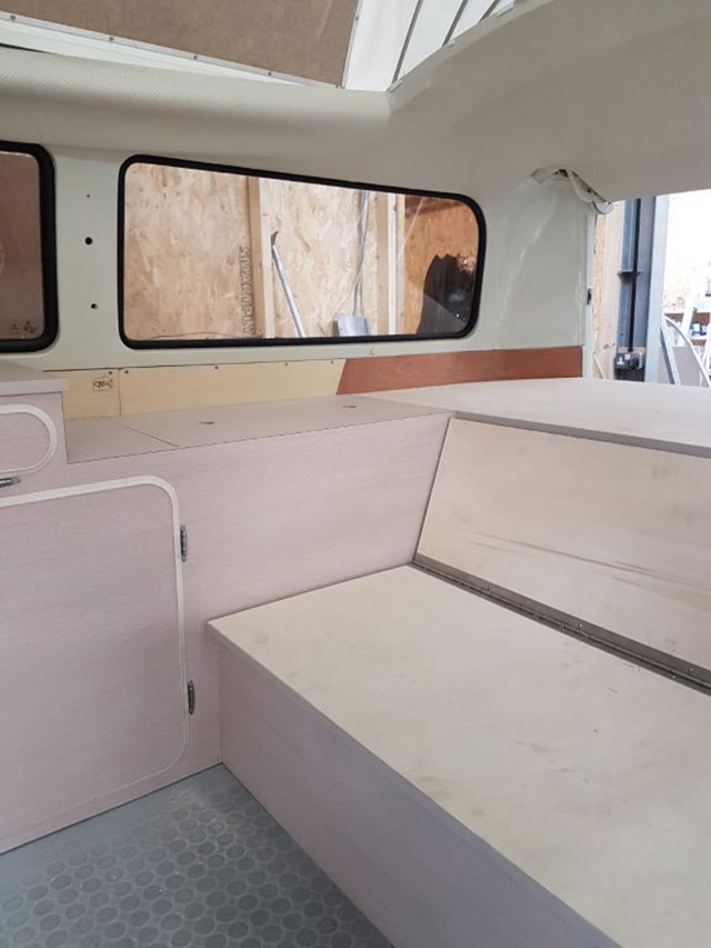 VW camper interior refit