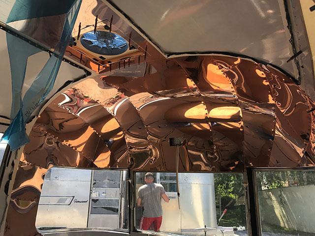 Shiny copper end caps